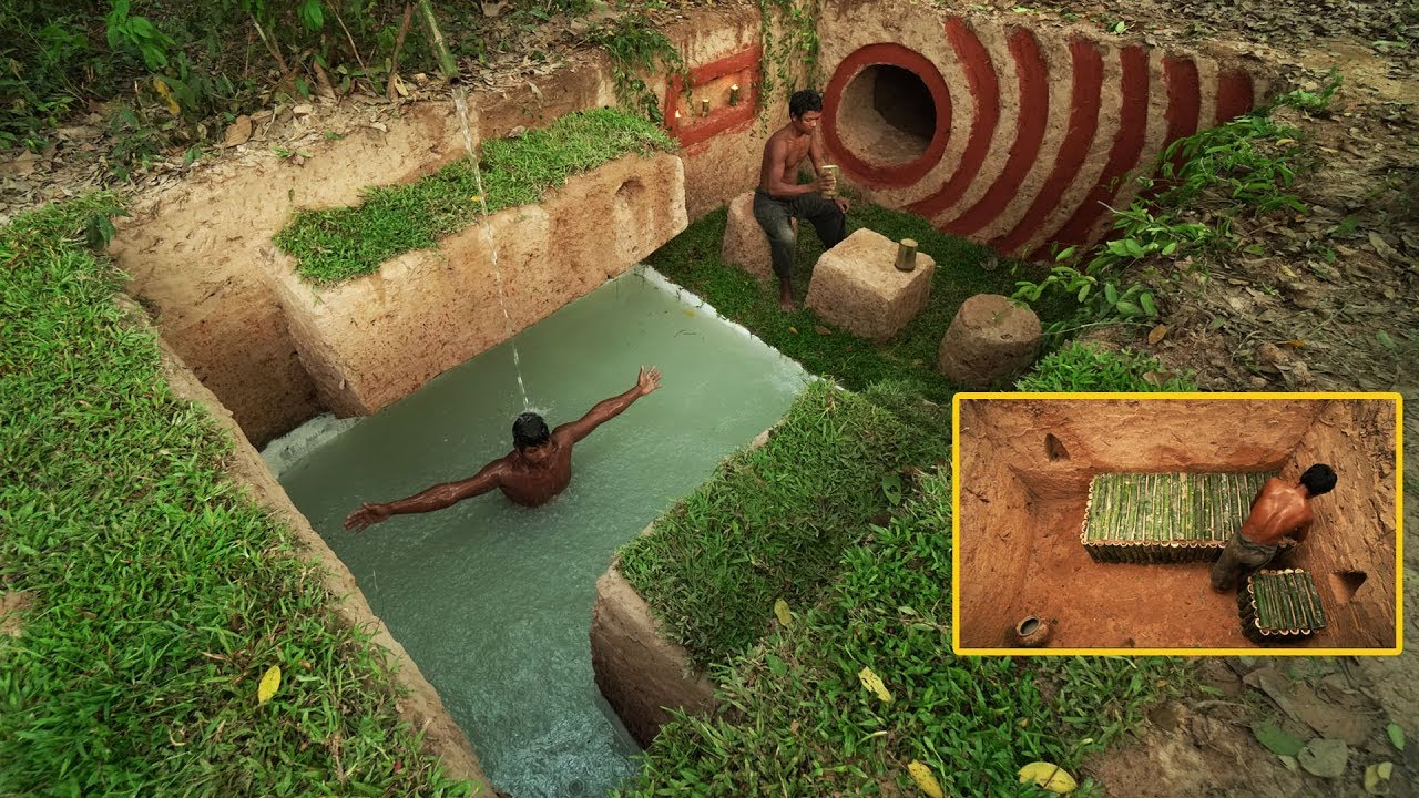 Building The Greatness Hidden House Underground And Underground Swimming Pool