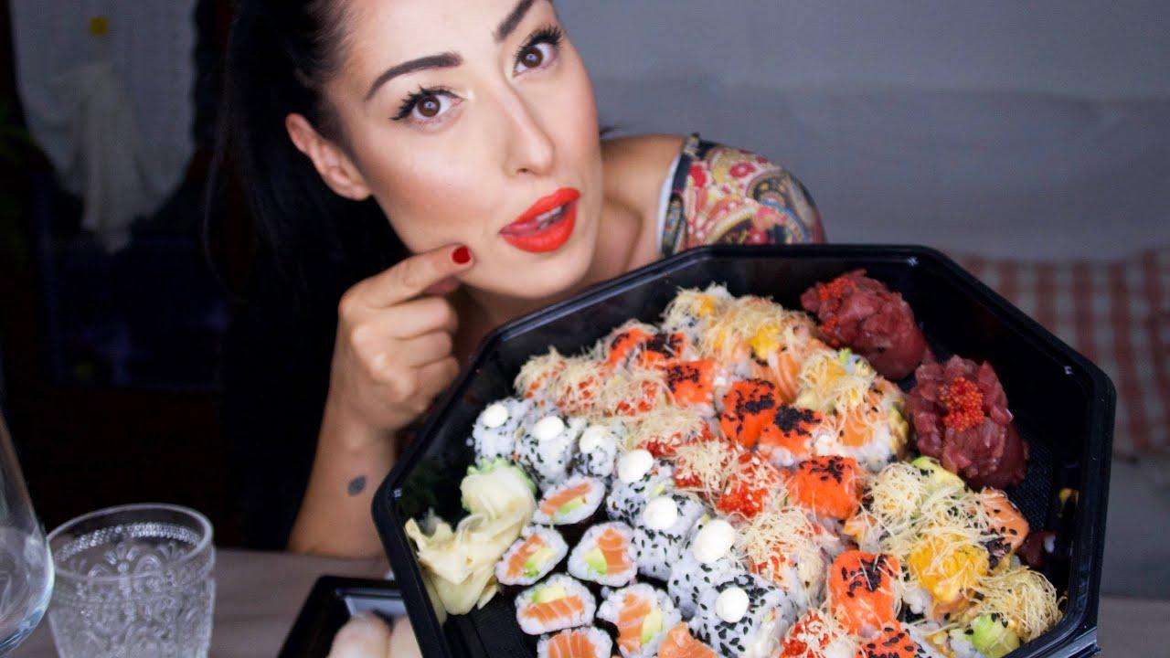 SUSHI MUKBANG ITA EATING SHOW sushi 🍣 \ osservatricescaltra