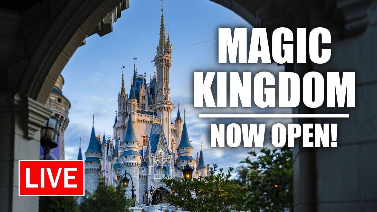 🔴 Live: Magic Kingdom NOW OPEN!   Walt Disney World Live Stream