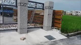 電動鍛造庭院門+圍牆欄杆