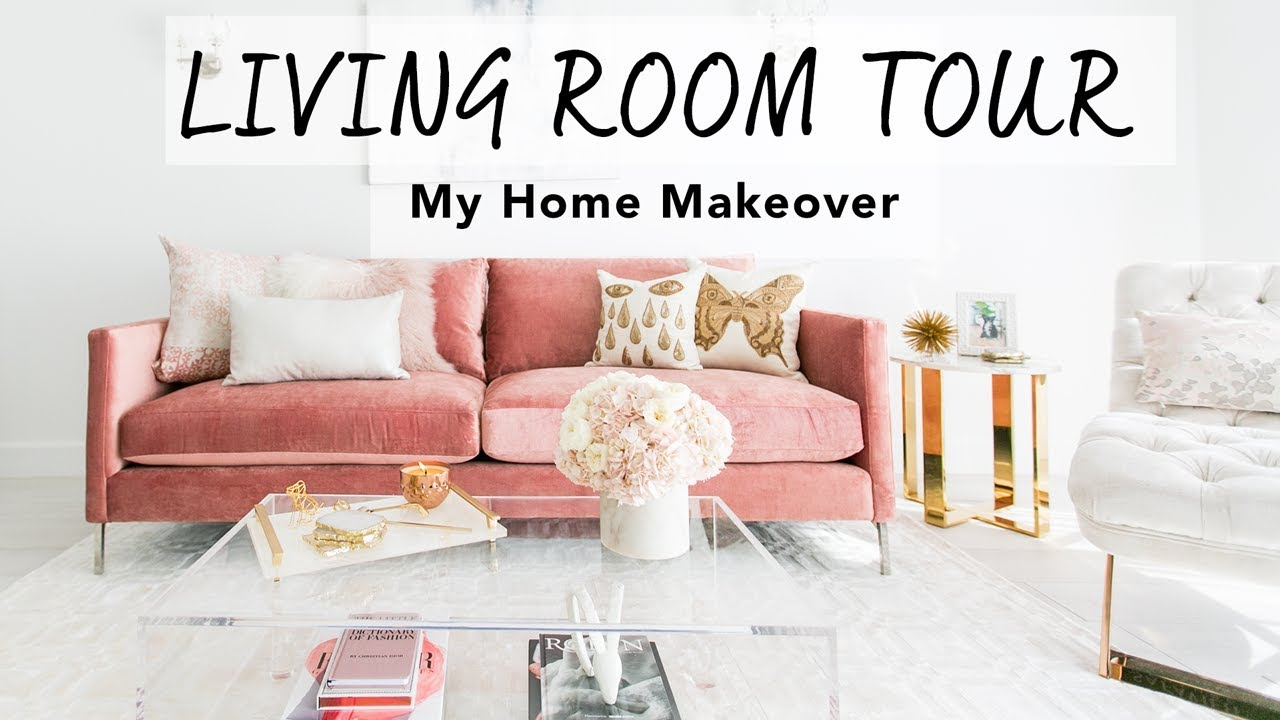 Blush Living Room Decor Redecorating Design [ 720 x 1280 Pixel ]