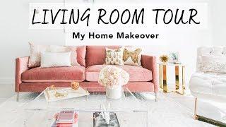 LIVING ROOM TOUR I My Home Makeover