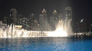 dubai fountain show - arabic song