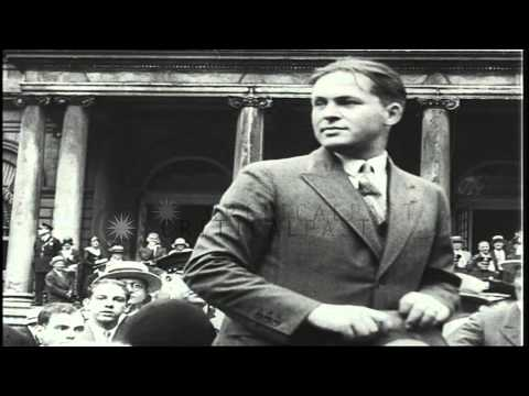Bobby Jones is welcomed and honored with a ticker tape parade in New York, United...HD Stock Footage
