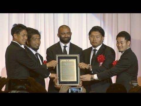 日本ラグビー「まだまだ強くなる」 スポニチフォーラムでグランプリ