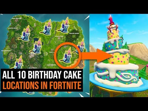 ALL 10 Birthday Cake Locations in Fortnite