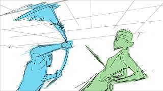 Malika Animated Pilot - Fight Scene Animatic Test (WIP)