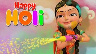 Rangbirangi Holi - Holi Manayenge Hum | Hindi Rhymes for Children | Infobells