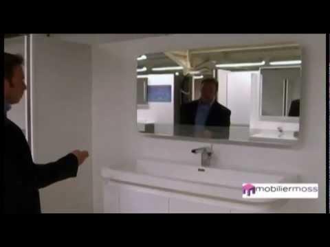 CACCIARI Ensemble de salle de bain design avec écran LCD