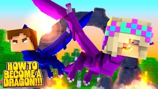 Minecraft LEAH & DONNY TURN INTO DRAGONS!!!