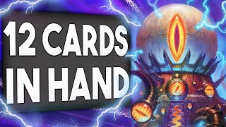 12 Cards IN HAND is CHEATING! New Mecha'Thun Warlock | Descent of Dragons | Hearthstone