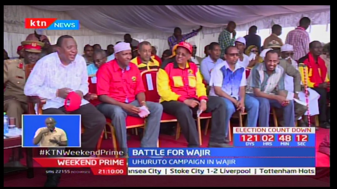 President Uhuru Kenyatta tells Wajir residents they stand to benefit if they vote for Jubilee