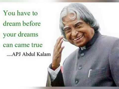 Abdul Kalam Inspirational Quotes For Success Youtube