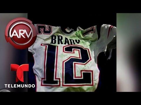 Nuevas imágenes del robo de camiseta de Tom Brady | Al Rojo Vivo | Telemundo
