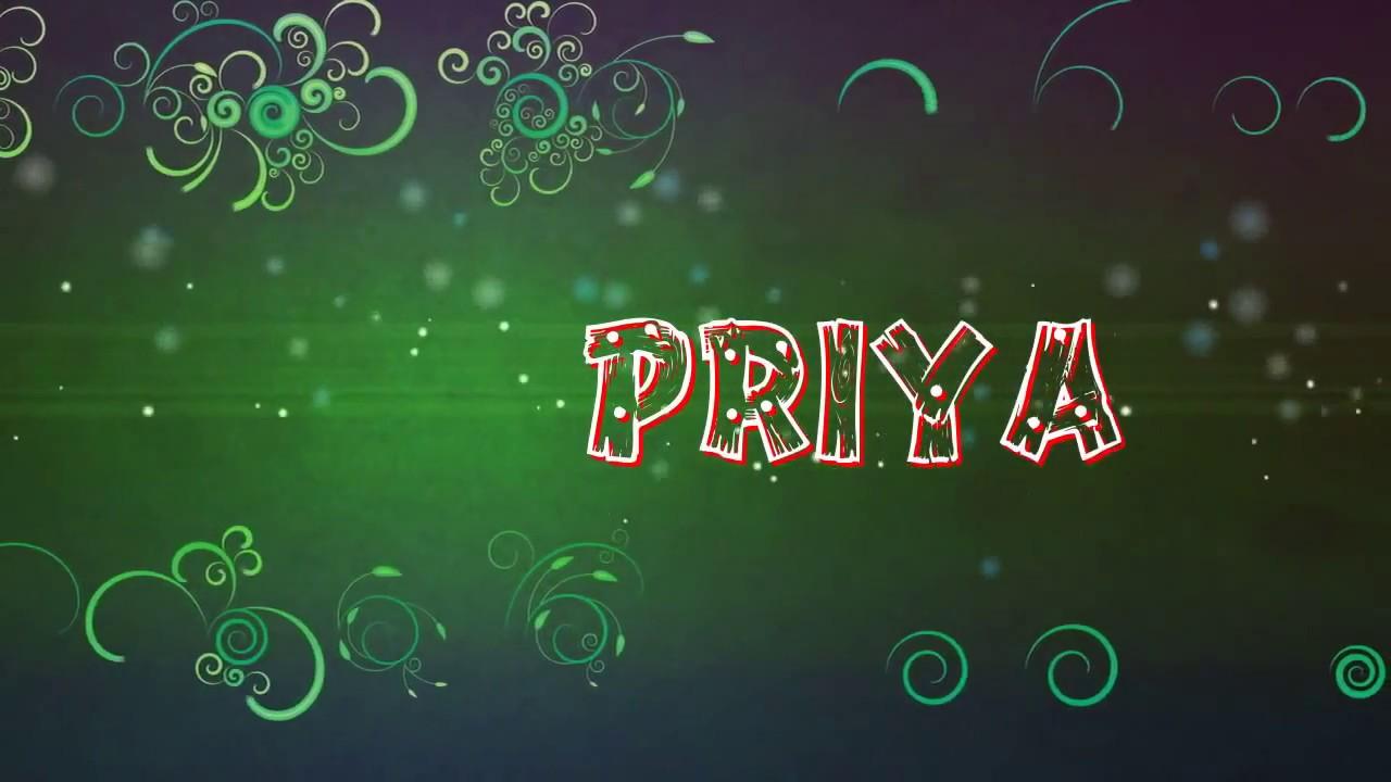 Priya name animation - YouTube