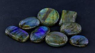 Покупка камней в Индии.  Кабошоны лабрадора высокого качества.  Обзор посылки