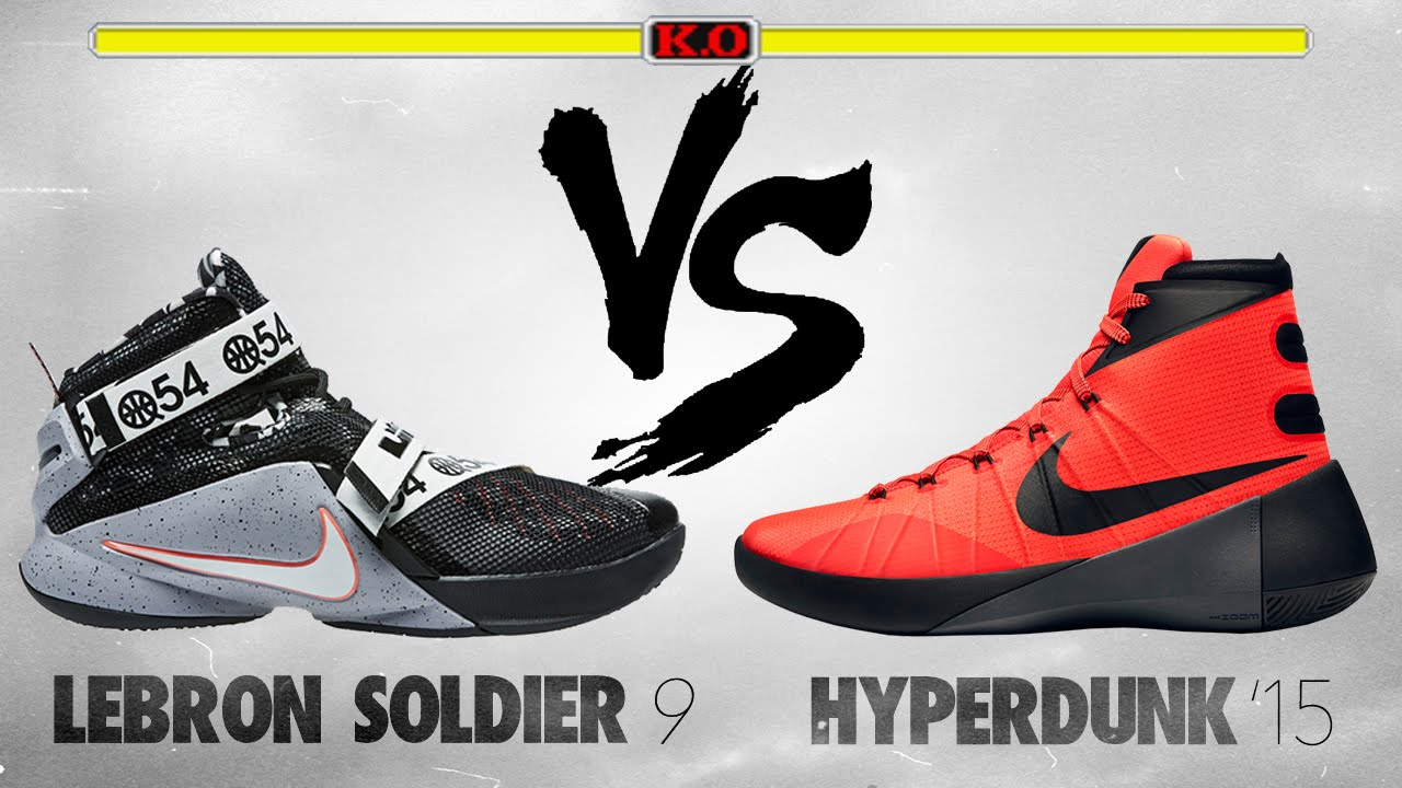 half off 7f636 983f8 Nike Hyperdunk 2015 vs. Lebron Soldier 9 - YouTube