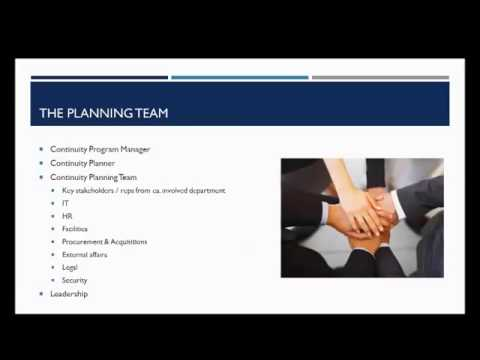 Continuity Planning and Preparedness