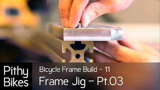 Bicycle Frame Build 11 - Frame Jig Pt.03 - Machining And Drilling The Head Tube Plate