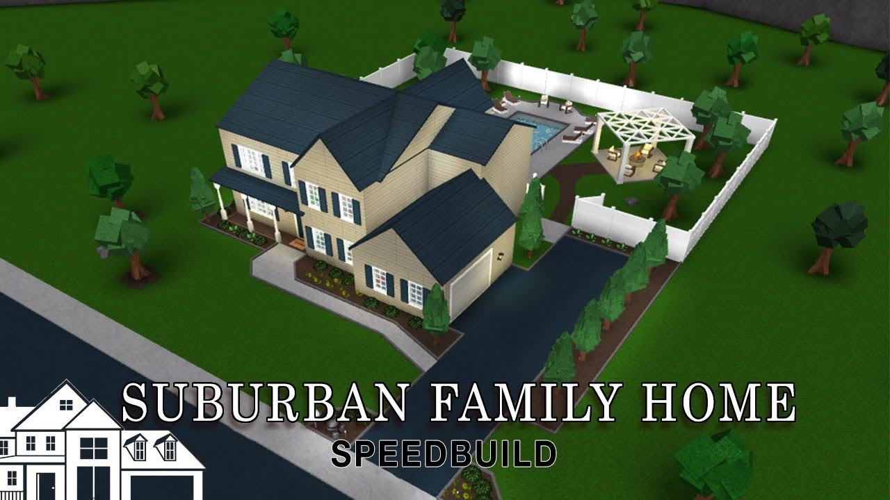 Roblox Bloxburg Suburban Family Home Speedbuild Youtube