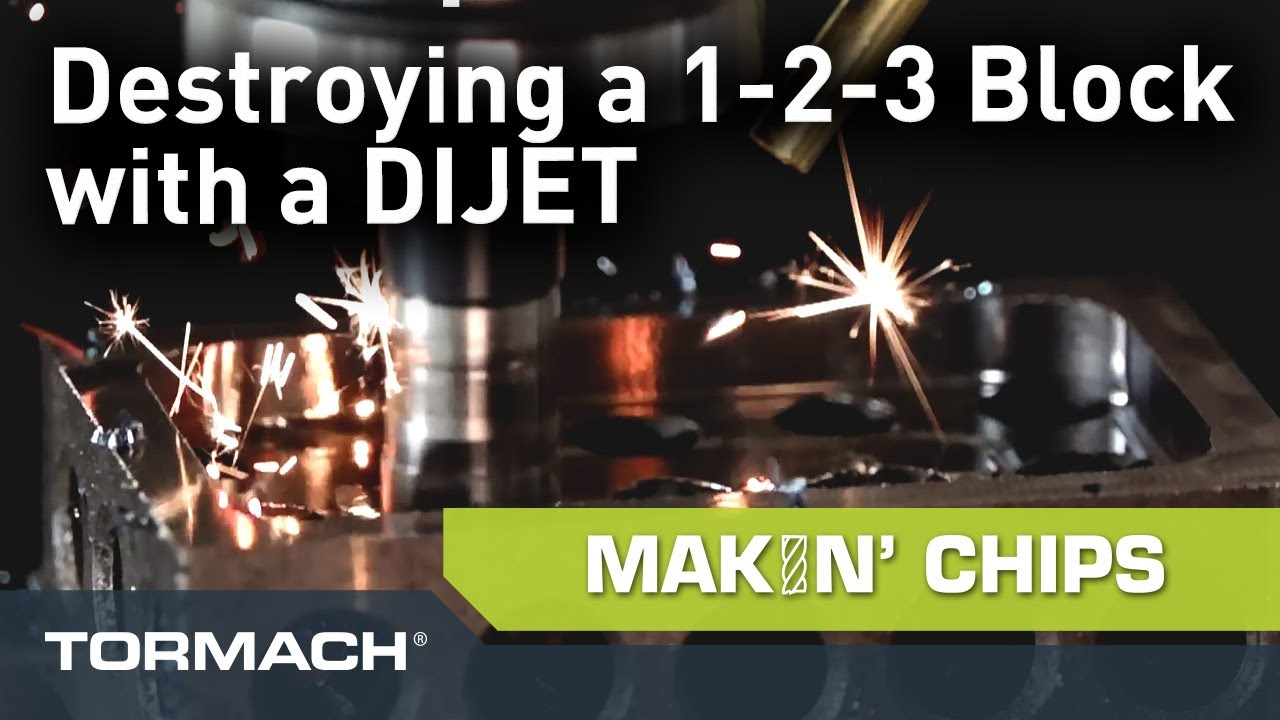 Cutting Hardened Steel with a DIJET High Feed Mill in Slow Motion