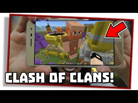 INCRÍVEL ADD-ON E MAPA DE CLASH OF CLANS PARA MINECRAFT PE 1.0.3! (MCPE / Minecraft Pocket Edition)