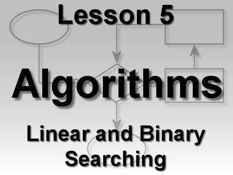 Algorithms Lesson 5: Linear and Binary Searching