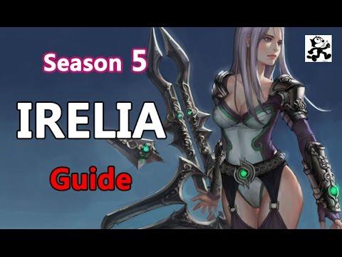 [레죵]시즌5 이렐리아 강의Irelia Guide룬+특성Mastery+spell - YouTube  [레죵]시즌5...