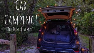 Car Camping: The Fiŗst Attempt