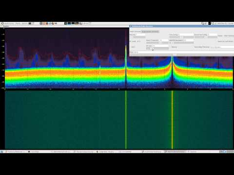 osmocom's fosphor with patchvonbraun's multimode looking at ISM + FLEX pager bands with rtlsdr