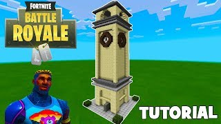 "Minecraft: How To Make Tilted Towers Clock Tower ""Fortnite"""