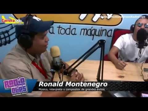 """Ronald Montenegro en Radio Clips presentando su tema """"Hoy anda de parranda"""""""