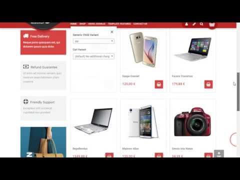 Mega Web Shop Virtuemart template For Joomla
