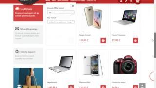 Mega Web Shop Virtuemart template For Joomla