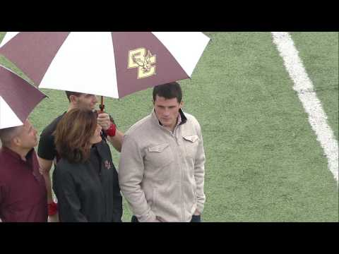 Football: Luke Kuechly Jersey Retirement Ceremony