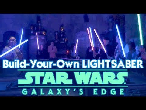 Galaxy's Edge - Build-Your-Own Lightsaber Experience in Savi's Workshop