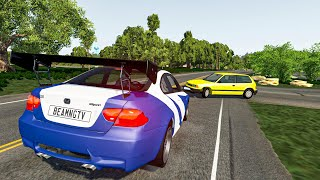 High Speed Traffic Car Crashes #31 - BeamNG.Drive