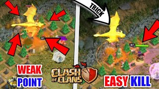 Secret Trick To Kill Mega Dragon || How to Kill Mega Dragon In Dragon's Lair || clash of clans