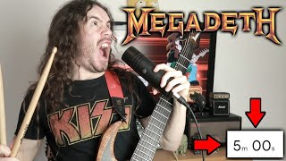 Making A MEGADETH Song In 5 Minutes (Speedrun)