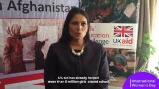 International Development Secretary Priti Patel marks International Women's Day