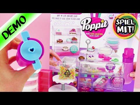 Poppit deutsch | Pop N Display Bakery Playset DONUTS KUCHEN UND MAKARONS selber machen | DIY DEMO