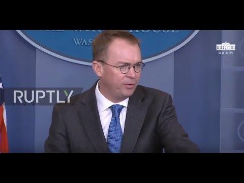 USA: 'Purely political' - budget director Mulvaney blames Democrats for potential govt. shutdown