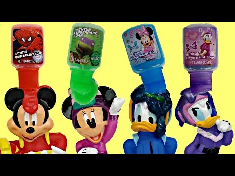 Thumbnail: Disney Jr Mickey & the Roadster Racers Deluxe Bath Set Bubbles Tub, Paint Learn Color Minnie / TUYC