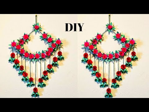 DIY  Home Decoration Ideas   Paper Wall Hanging Crafts  Paper Flowers   Wall Hanging  CrazeeCrafts