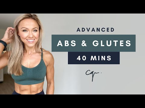 40 Min ADVANCED ABS & GLUTES WORKOUT | with Ankle Weights (Optional)