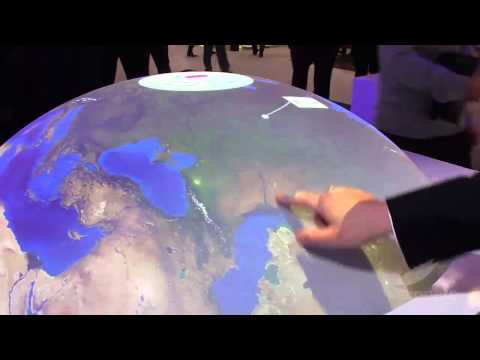 visionate | Interactive Project Sphere - Multitouch Globe