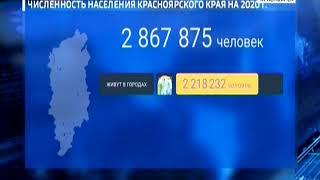В Красноярском крае живет почти 3 миллиона человек