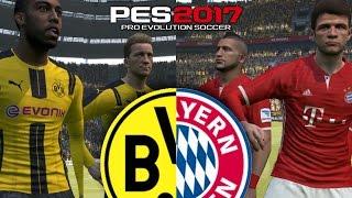 Bayern munich vs borussia dortmund | PES 2017