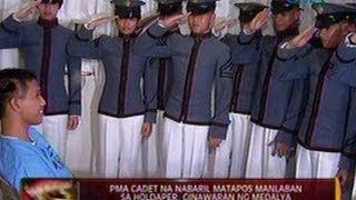 24 Oras: PMA cadet na nabaril matapos manlaban sa holdaper, ginawaran ng medalya