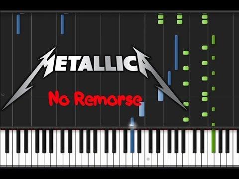 Metallica - No Remorse (♫) (Instrumental + Synthesia)
